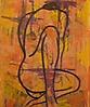 desnudo sentado con el cuerpo girado