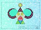 -Nombre de la Obra:-Cara Hexagonal o Payaso Carnavalero.