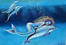 Sirena y delfín