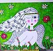 ángel en mi jardín